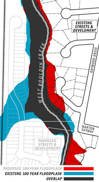 Out of the Floodplain(blue): Under FEMA's proposed new 