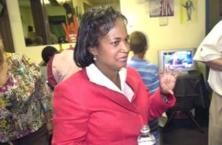 Sheryl Cole savors her victory on election night.
