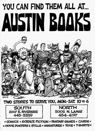 Jackson's illustration for Austin Books, 1988