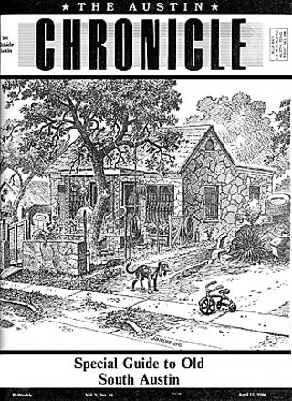 Jackson's cover for the <i>Chronicle</i>'s first South Austin Guide, April 11, 1986