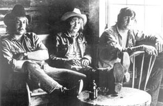Three Faces West (l-r): Wayne Kidd, Ray Wylie Hubbard, Rick Fowler, 1969