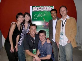 <i>Chalk</i>'s Janelle Schremmer, Shannon Haragan, Chris Mass, Troy Schremmer, Jeff Guerrero, and Mike Akel
