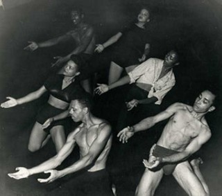 Eartha Kitt performing with Katherine Dunham dancers, 