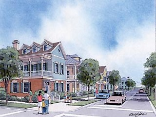 Artist conception of Crestview Station's single-family housing stock