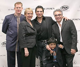 The organizers (l-r): AMOA's Executive Director Dana Friis-Hansen, AMOA board President Bettye H. Nowlin, along with St. Thomas Boutique's Riley Estebes de Silva, Tomás Estebes, and their son, Niko.