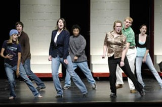 Life imitates art: Austin High students rehearse the musical about high school students rehearsing a musical.