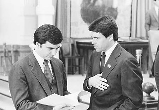 Rick Perry and Mike Toomey in the 1980s when they were legislators together