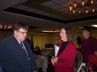 Michael Moore (l) and Melnyk