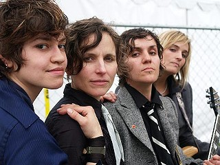The Cliks, fronted by Lucas Silveira (second from right), are hardly your typical all-girl band.