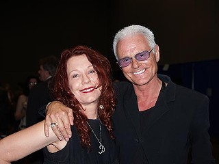 Author Pamela Des Barres and her ex, actor/musician Michael Des Barres at the Austin Music Awards