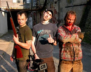 Reggie Cunningham, Ti West, and Larry Fessenden
