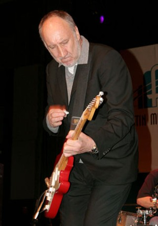 Pete Townshend's quick one at the Austin Music Awards