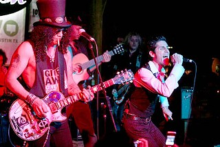 Slash, Tom Morello, and Perry Farrell's satellite party