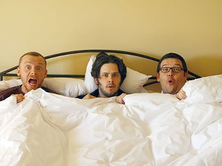 Simon Pegg, Edgar Wright, and Nick Frost