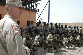 Westhusing training Iraqi soldiers
