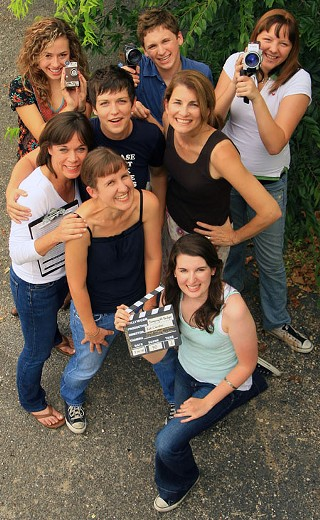 Back, l to r: Madison Burge (student), Mason Kerwick (student), Natalie Kelton (student)<br>