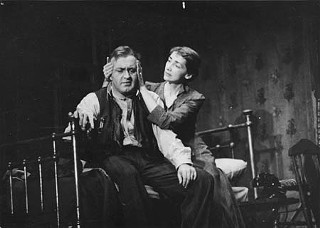 Lee J. Cobb and Mildred Dunnock in the original production of <i>Death of a Salesman</i>, 1949