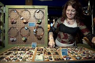 A vendor displays her jewelry at Stitch 2006.<p>Photo courtesy of Jody Horton