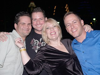 (l-r) Mark Erwin, Marc Harmon, Margaret Moser, and Stephen Rice at the American YouthWorks benefit