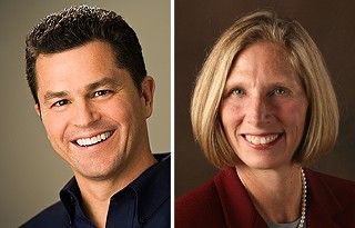 Council Race Issue: Calling for new comprehensive planning to manage growth could become a hot-button campaign issue for two competing Place 4 City Council candidates: former Planning Commissioner Cid Galindo (l) and former Austin Neighborhoods Council President Laura Morrison.  Both advocate updated comp plans, but their visions differ.