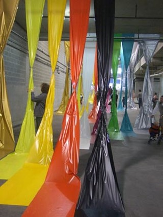 Artist Rebecca Ward's <i>Roll-On/Roll Off</i> installation at the CSC Garage was one of the featured artworks at this year's First Night.