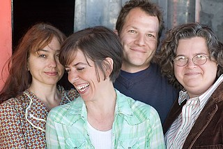 Copad fever: (l-r) Shawn Sides, Lana Lesley, Kirk Lynn, and Madge Darlington