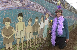 Crestview Wall of Welcome: Art bringing neighbors together