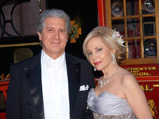 Socialite and philanthropist Dr. Carolyn Farb (r)