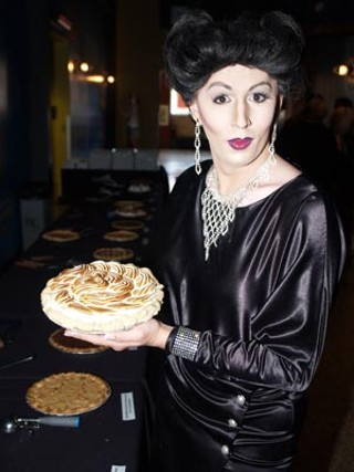 Entertainer Saffire Trinity is Joan to the bone, at Sunday's <i>Mildred Pierce</i> Pie Social.