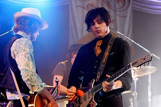 Brendan Benson (l) and Jack White,  May 3