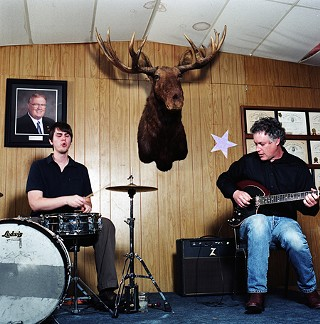 Nick Hennies and Aaron Russell at the Moose Lodge