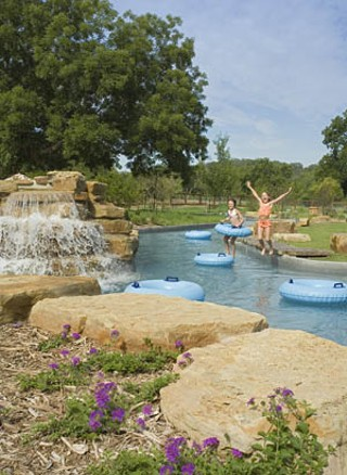 The Crooked  River pool at  Lost Pines.  Just add  children ...