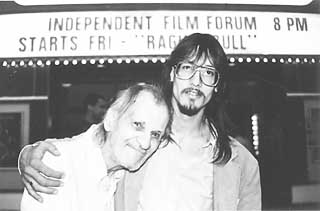 Mark Borchardt (r) with his executive producer, Uncle Bill