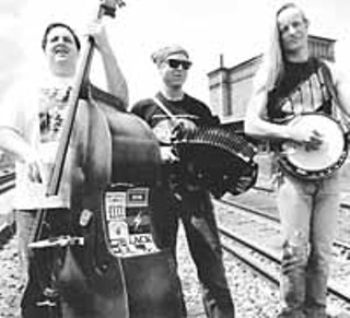 From the first album: (l-r) Mark Rubin, Ralph White, and Danny Barnes