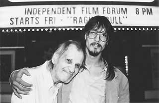Mark Borchardt (r) and Uncle Bill in <i>American Movie</i>