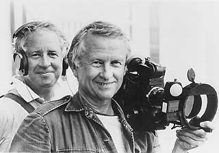 Albert Maysles (r) and his brother and collaborator, David