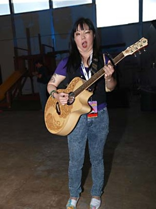 Retrained: Comedienne (and now acoustic guitarist) Margaret Cho made 'em scream at the legendary Velveeta Room.