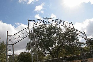 The private Oak Hill cemetery where investigators alleged that children were taken by the Kellers