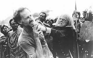 Werner Herzog and Klaus Kinski on the set of <i>My Best Fiend</i>