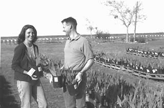 Rita and Cliff Snyder welcome visitors to their farm.