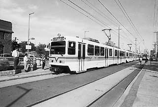 Watson wants to follow other cities' tracks to light rail, such as this one in Sacramento.