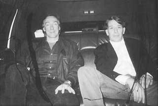 John Cale and Sterling Morrison in the limo to <i>The Tonight Show</i>, 1992