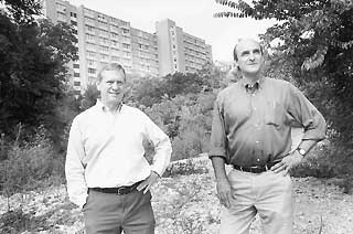 Downtown developers Perry Lorenz and Robert Knight
