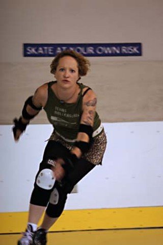 Texas Rollergirls' Colleen Bell, aka Crackerjack