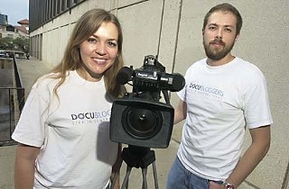 Docubloggers producers Domenique Bellavia (l) and Sean Cunningham in August 2008