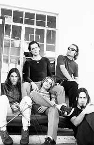 Pariah 1995 (clockwise from left): Shandon Sahm,  Kyle Ellison, Dave Derrick, Jared Tuten, and Sims Ellison