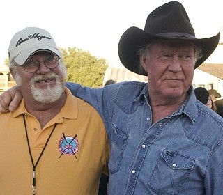 Poodie (l) and Billy Joe Shaver