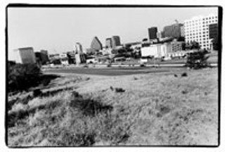 The Bennett Tract, which overlooks  downtown Austin across I-35, is considered  one of the most valuable undeveloped plots  of land in Central East Austin.