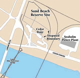 The City Council is nearing an agreement with Lumbermen's Investment Corporation over the disputed boundary of the Sand Beach Reserve north of Town Lake. The city will let Lumbermen's build its condo project up to the southern edge of the disputed site; in return, the corporation will build a road to the disused Seaholm Power Plant and pay for other improvements.