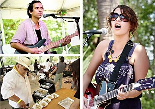 clockwise from top left: David Garza, Gaby Moreno and Adam Gonzales